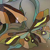 Для дома и интерьера ручной работы. Ярмарка Мастеров - ручная работа Витраж для ниши Бабочки. Handmade.