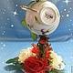 Топиарии ручной работы. Заказать Цветочная чашка Королева цветов. Сувениры ручной работы от ElenaVSh. Ярмарка Мастеров. Чайная пара