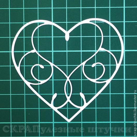 Открытки и скрапбукинг ручной работы. Ярмарка Мастеров - ручная работа. Купить Вырубка для скрапбукинга Сердце ажурное 2. Handmade. Вырубка