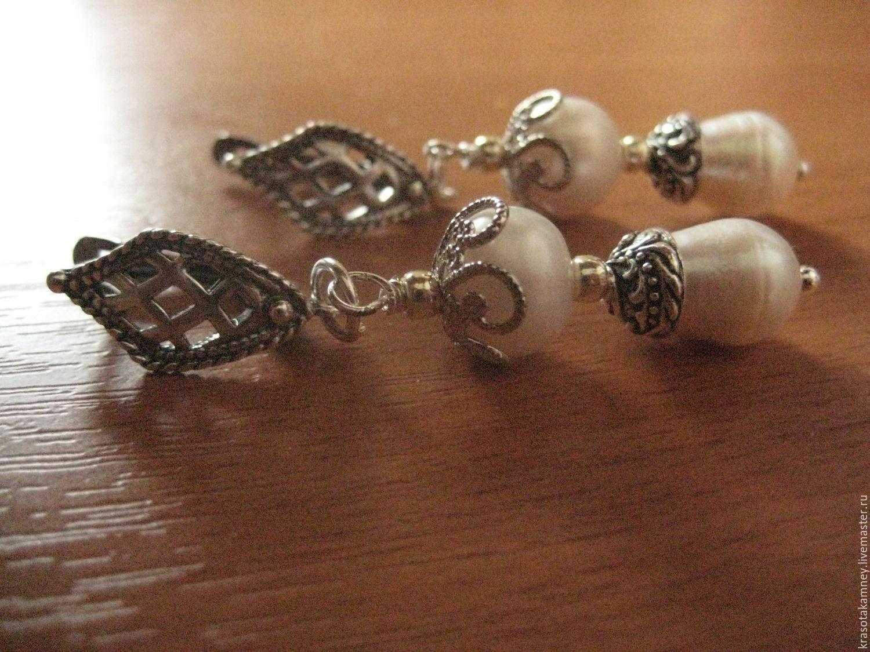 """браслет и серьги--""""ОДЕТТА""""--натуральный жемчуг"""