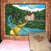 """Картины и панно ручной работы. Ярмарка Мастеров - ручная работа Пано """"Волшебный замок"""".. Handmade."""