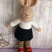 Куклы и игрушки ручной работы. Ярмарка Мастеров - ручная работа Зайка в пчелиных колготках. Handmade.