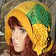 Шляпы ручной работы. Ярмарка Мастеров - ручная работа. Купить Шляпка жёлто-зелёная. Handmade. Желтый, женский головной убор