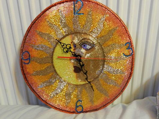 Фантазийные сюжеты ручной работы. Ярмарка Мастеров - ручная работа. Купить часы солнце. Handmade. Картины в подарок, картины для интерьера