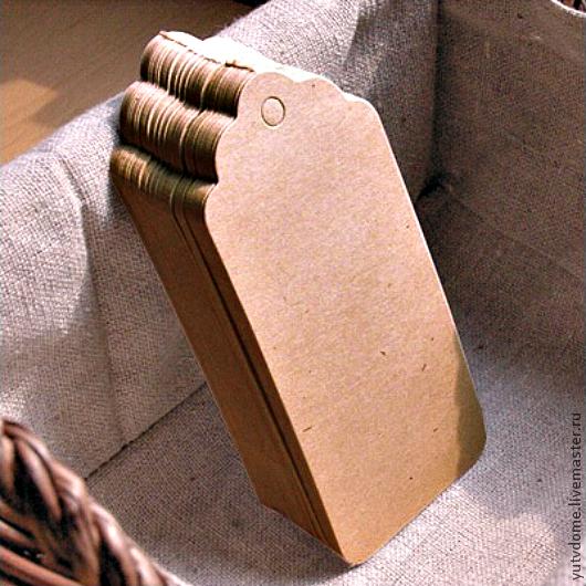 Упаковка ручной работы. Ярмарка Мастеров - ручная работа. Купить 0964 Крафт бирка 4,5х9см тег для упаковки. Handmade.