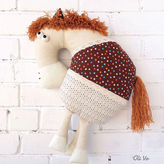 Детская ручной работы. Ярмарка Мастеров - ручная работа. Купить Подушка-лошадка. Handmade. Лошадь, лошадь игрушка, подушка-игрушка