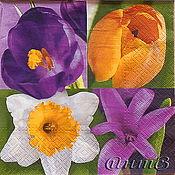 Материалы для творчества handmade. Livemaster - original item Napkin for decoupage floral mix print. Handmade.