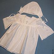 Работы для детей, handmade. Livemaster - original item Baptismal set the