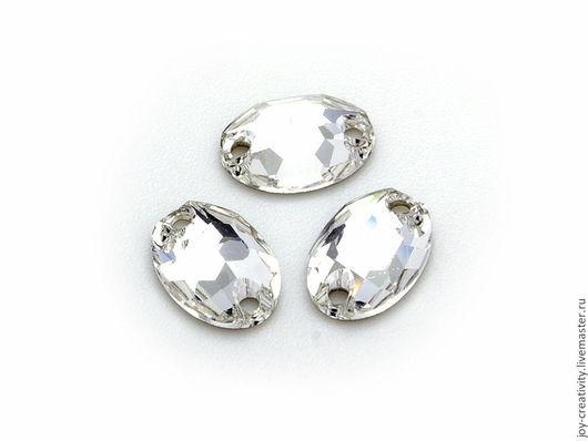 Для украшений ручной работы. Ярмарка Мастеров - ручная работа. Купить Oval 10x7мм Crystal Swarovski пришивные кристаллы. Handmade.