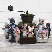 Куклы и игрушки handmade. Livemaster - original item Felted mouse. The mouse family. Handmade.