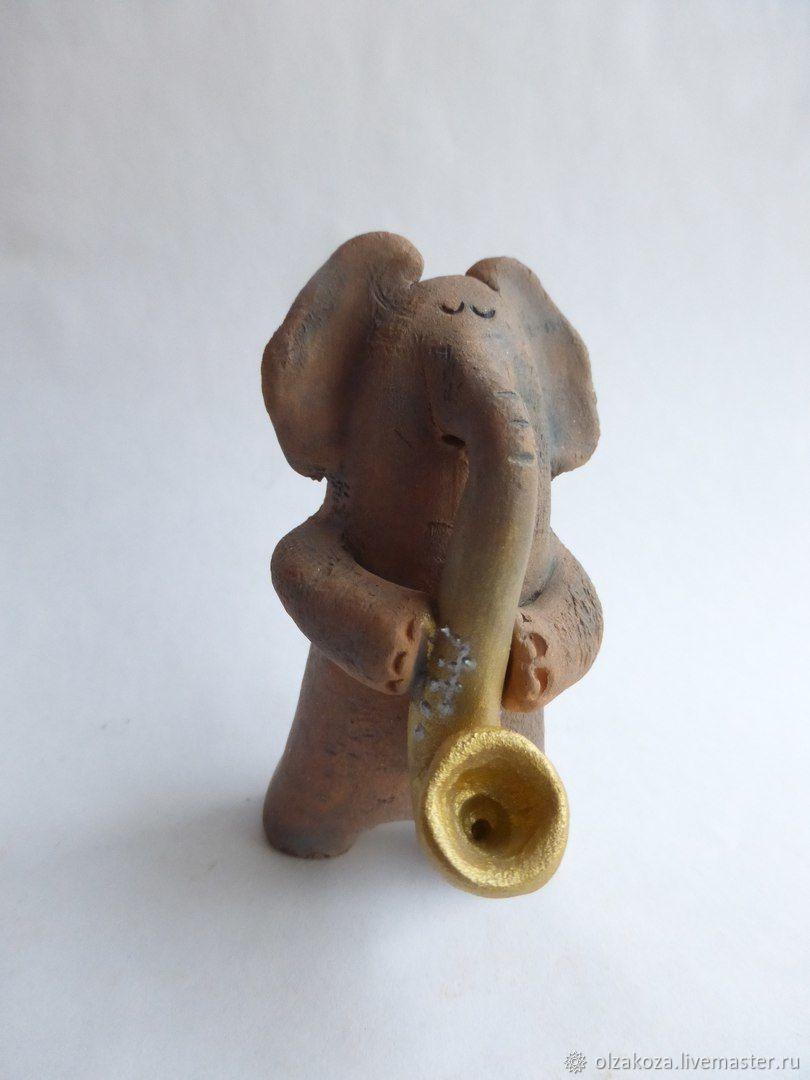 Animal Toys handmade. Livemaster - handmade. Buy Maxolon. Ceramics. Figures of elephants.Elephant, figures of elephants