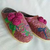 Обувь ручной работы handmade. Livemaster - original item Felted wool Slippers. House Slippers.. Handmade.