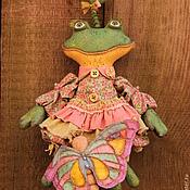 Куклы и игрушки ручной работы. Ярмарка Мастеров - ручная работа Лягушонок с бабочкой. Handmade.