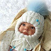 Работы для детей, ручной работы. Ярмарка Мастеров - ручная работа Шапочка-шлем для новорожденных.. Handmade.