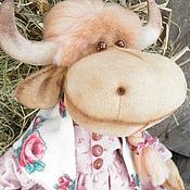 Куклы и игрушки ручной работы. Ярмарка Мастеров - ручная работа Корова Аленушка, интерьерная игрушка. Handmade.