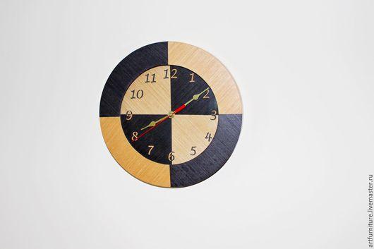 Часы для дома ручной работы. Ярмарка Мастеров - ручная работа. Купить Деревянные настенные часы - часы на стену - анегри эбен. Handmade.