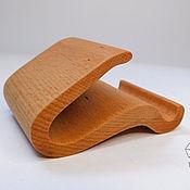 Для дома и интерьера handmade. Livemaster - original item Phone stand made of solid wood (beech). Handmade.