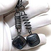 Украшения handmade. Livemaster - original item Silver earrings with kyanite Springs. Handmade.