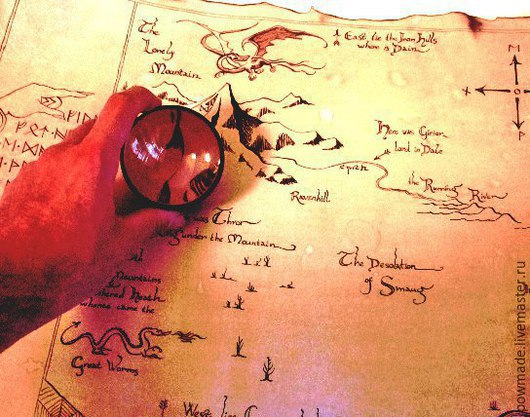 Карта Торина ручной работы