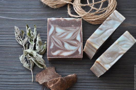 """Мыло ручной работы. Ярмарка Мастеров - ручная работа. Купить Мыло """"Шоколадная мята"""". Handmade. Коричневый, мыло ручной работы"""