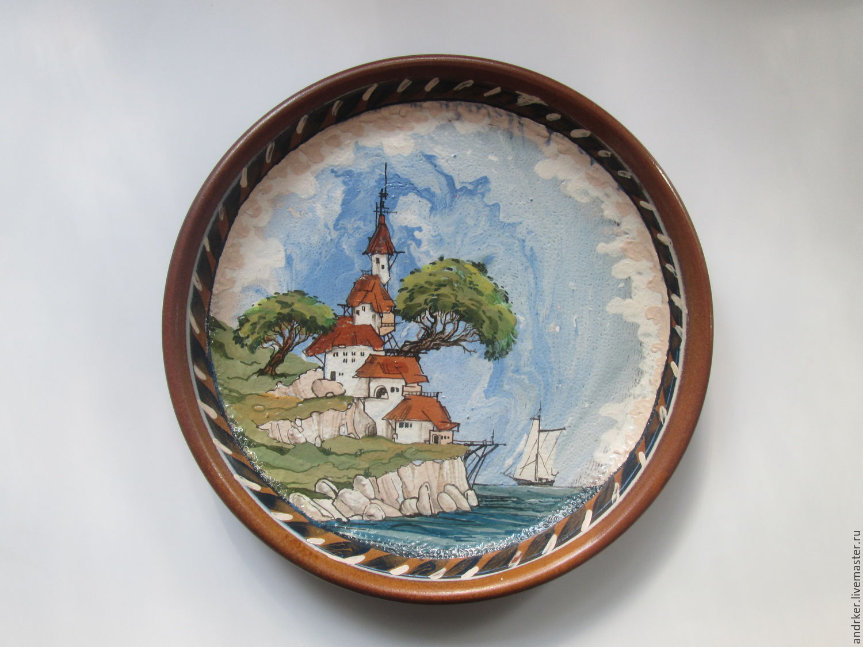 Пейзаж  Декоративная тарелка, Подвески, Москва, Фото №1