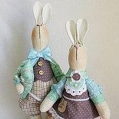 Куклы и игрушки ручной работы. Ярмарка Мастеров - ручная работа Парочка зайцев. Handmade.