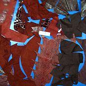 Материалы для творчества ручной работы. Ярмарка Мастеров - ручная работа набор кожи   для творчества№13. Handmade.