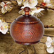 Для дома и интерьера handmade. Livemaster - original item a jug with lid box made of natural cedar barrel k26. Handmade.