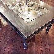 Столы ручной работы. Ярмарка Мастеров - ручная работа Стол журнальный со стеклом. Handmade.
