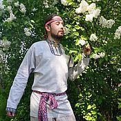 Русский стиль handmade. Livemaster - original item Shirt mens. Handmade.