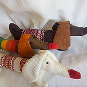 Куклы и игрушки ручной работы. Ярмарка Мастеров - ручная работа Такса с полосками. Handmade.