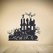 Для дома и интерьера ручной работы. Ярмарка Мастеров - ручная работа Полка с силуэтным панно. Handmade.