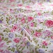 Материалы для творчества ручной работы. Ярмарка Мастеров - ручная работа Ткань хлопок Розовые мечты (цветочный принт). Handmade.