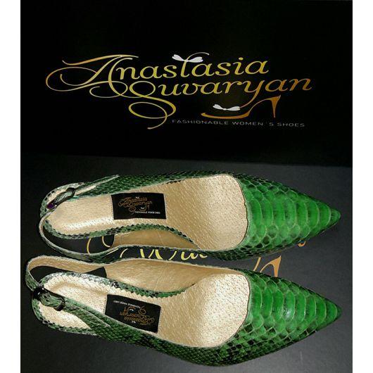 Обувь ручной работы. Ярмарка Мастеров - ручная работа. Купить Босоножки ручной работы из натуральной кожи питона. Handmade. Босоножки