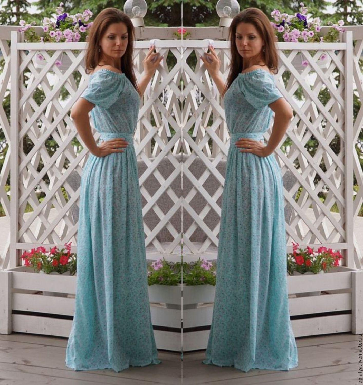 Стильное длинное летнее платье