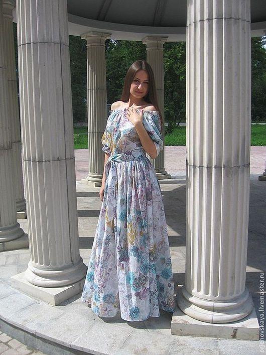 """Платья ручной работы. Ярмарка Мастеров - ручная работа. Купить Платье """"Лето"""". Handmade. Белый, платье в пол"""