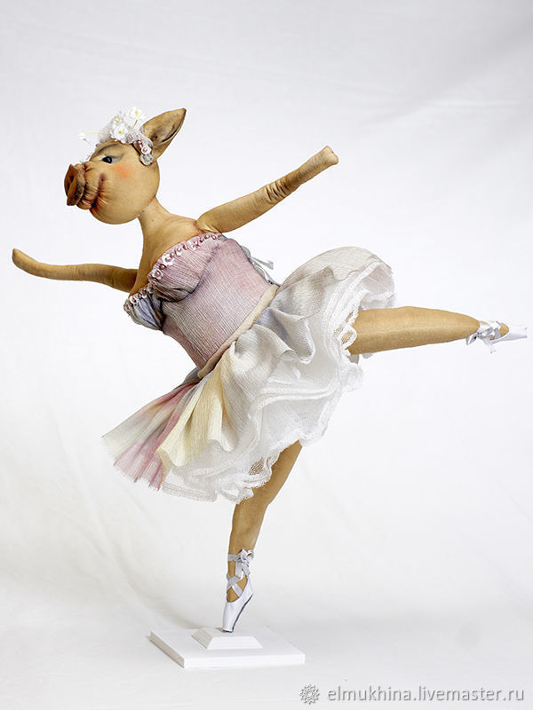 Pig ballerina, Stuffed Toys, Moscow,  Фото №1