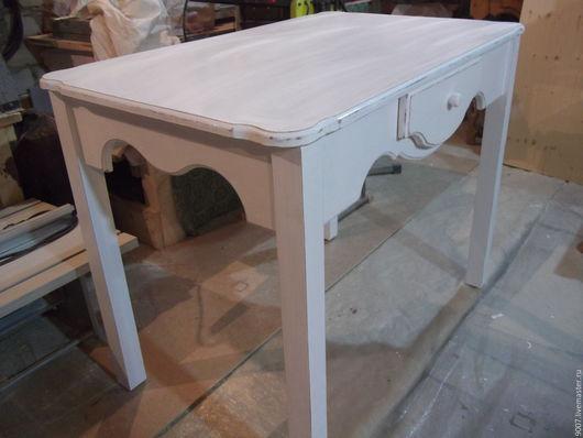 Мебель ручной работы. Ярмарка Мастеров - ручная работа. Купить кухонный стол и два стула. Handmade. Белый, массив дерева