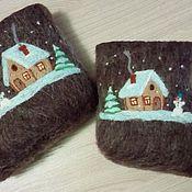 """Обувь ручной работы. Ярмарка Мастеров - ручная работа Валенки детские """"Зимний домик"""". Handmade."""