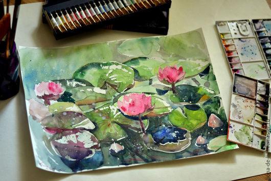 """Картины цветов ручной работы. Ярмарка Мастеров - ручная работа. Купить """"Летние цветы"""". Handmade. Разноцветный, для дома и интерьера"""