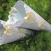 "Свадебный салон handmade. Livemaster - original item Kulechki petals for ""Mint"". Handmade."