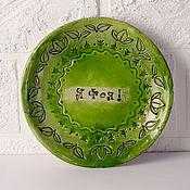 Посуда handmade. Livemaster - original item Plate I`m a FAIRY!. Handmade.