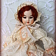 Коллекционные куклы ручной работы. Ярмарка Мастеров - ручная работа. Купить Будуарная кукла Барбель. Handmade. Бежевый, антикварная кукла
