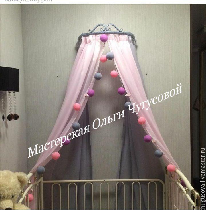 Карниз для балдахина Диадема №3 продолжение, Балдахин для кроватки, Москва,  Фото №1