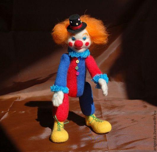 Человечки ручной работы. Ярмарка Мастеров - ручная работа. Купить Клоун. Handmade. Игрушка ручной работы, клоуны, рыжий