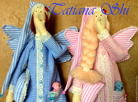 Куклы Тильды ручной работы. Ярмарка Мастеров - ручная работа. Купить Ангелы Сплюшкины 42 см. Handmade. Комбинированный