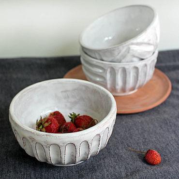 """Посуда ручной работы. Ярмарка Мастеров - ручная работа Миски """"Молочное печенье"""". Handmade."""