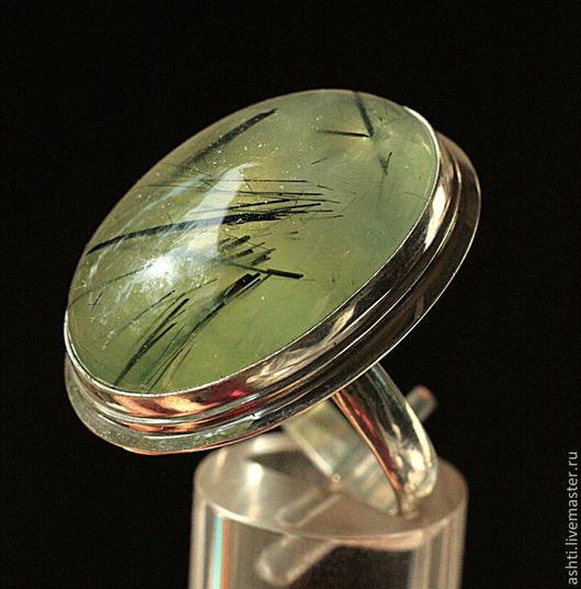 Кольца ручной работы. Ярмарка Мастеров - ручная работа. Купить Кольцо с  пренитом 499. Handmade. Салатовый, пренит