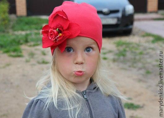 Шапки и шарфы ручной работы. Ярмарка Мастеров - ручная работа. Купить Шапочки для девочек. Handmade. Разноцветный, шапка с цветами