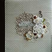 Свадебный салон ручной работы. Ярмарка Мастеров - ручная работа Свадебный комплект Альбом+блокнот. Handmade.